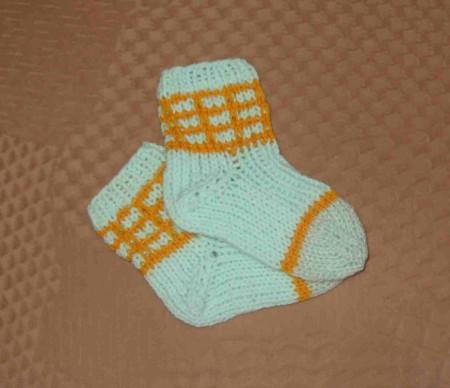ponozky 8-9cm zeleno zlute
