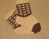 ponozky 10-11cm bezovo hnede