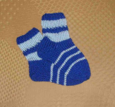 ponozky 12-13cm modro modre